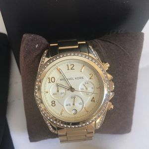 Michael Kors diamond gold women's watch